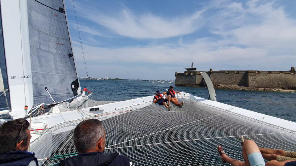 Navigation Entreprises sur un trimaran de course de 60 pieds avec Nicolas Boidevézi